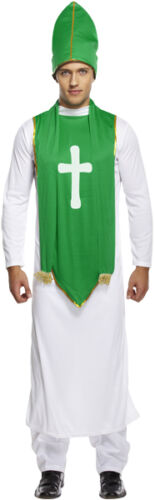 MENS ST PATRICK FANCY DRESS COSTUME IRISH VICAR BISHOP PRIEST PADDY DAY PARTY