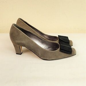 95cc1ad331 Van Dal TLC Aurora Sz UK 6.5D Taupe Suede Leather Court Shoe Mid ...