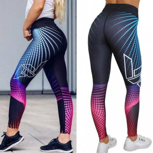 Women/'s Yoga Pants Fitness Leggings Running Gym Workout Sports Trousers 3D Print
