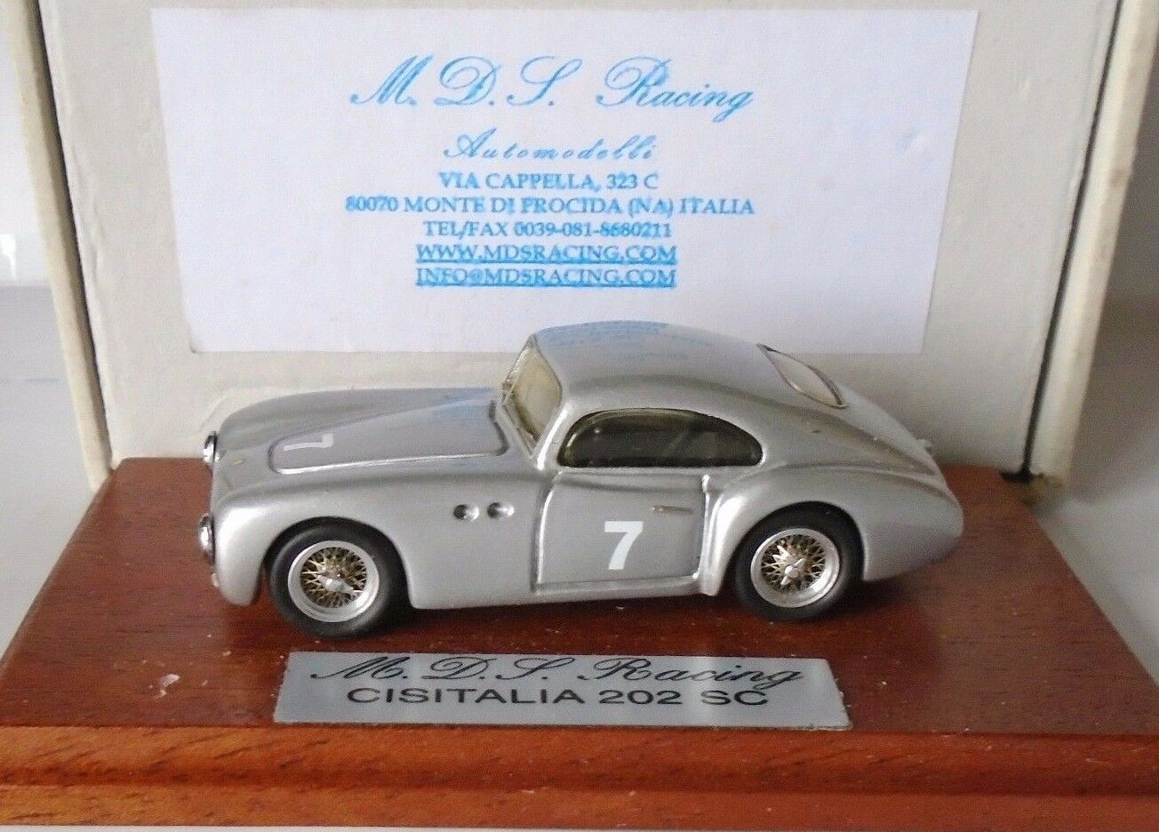 Cisitalia 202 SC Coupe Targa Florio 1948 Taruffi 1 43 MDS Resin Model