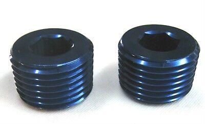 """Pipe Plugs 1//16/"""" NPT Aluminum w// allan head  of Black aluminum 6 pack"""