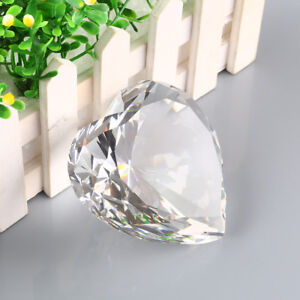 cd947b9d38826 Image is loading Big-90mm-Clear-Crystal-Paperweight-Cut-Glass-Large-