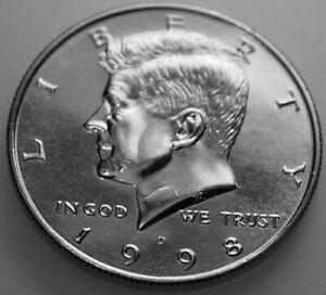 1998 half dollar coin