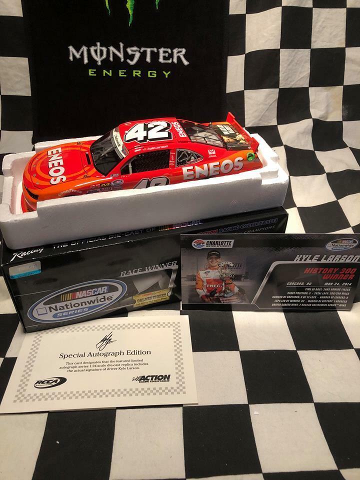 tienda en linea 1 24 acción Kyle Larson'14 Camaro    42 Eneos historia 300 Win 1 de 300  67 Firmado  compra en línea hoy