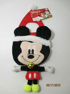 Disney Santa Hat Mickey Mouse Door Knob Hanger Plush Bell New With Tag Christmas Ebay