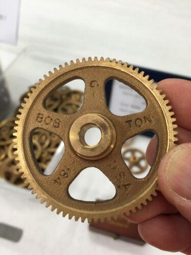 "BOSTON GEAR G-184 BRONZE SPUR GEAR FOR CLOCKS ETC 32 PITCH 80 TEETH 5//16/""  BORE"