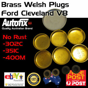 Brass-Welch-Welsh-Freeze-Core-Plug-Set-Gallery-Kit-Fits-Ford-Cleveland-302-351