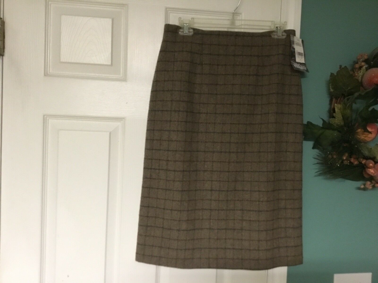 Women's Woolrich Wool Blend Fully Lined Straight Pencil Skirt Size 8 (CON18)