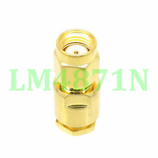 1pce Connector RP.SMA male jack clamp RG58 RG142 LMR195 RG400 cable straight