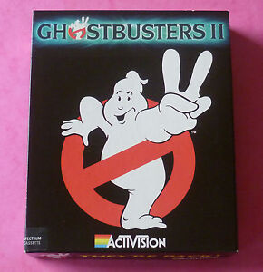 Sinclair-ZX-Spectrum-Activision-GHOSTBUSTERS-II-2-w-Booklet-1989-NEW