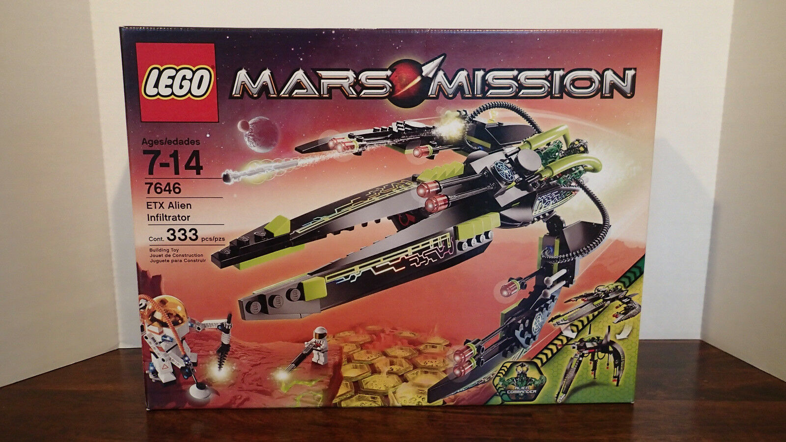 """NEW LEGO Mars Mission """"ETX Alien Infiltrator"""" – 7646 – 333 pieces - Retired"""