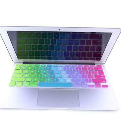 "Stylish Rainbow Keyboard Protector Cover Skin Film For MacBook Air 13.3"" 15"" 17"""