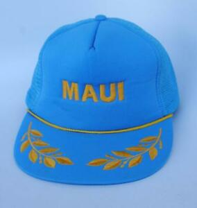 6f9c3da288c95 MAUI Hawaii Trucker Mesh Blue Baseball Cap Hat One Size Snapback ...