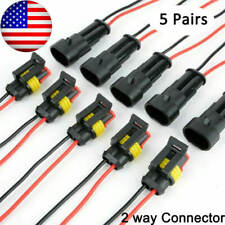 New Listing5 Sets 2 Pin Way Car Waterproof Male Female Electrical Wire Connector Plug Kit