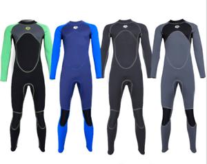 Men's 3mm Neoprene Diving Suit Jump Surf Swim Free Dive Full Body Warm Wetsuits