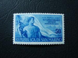 SAN-MARINO-1956-FRANCOBOLLO-N-438-NUOVO-MNH-VAL-CAT-18-00
