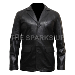 Men/'s Black Genuine Leather Blazer Coat Jacket BEST QUALITY BEST PRICE OFFER