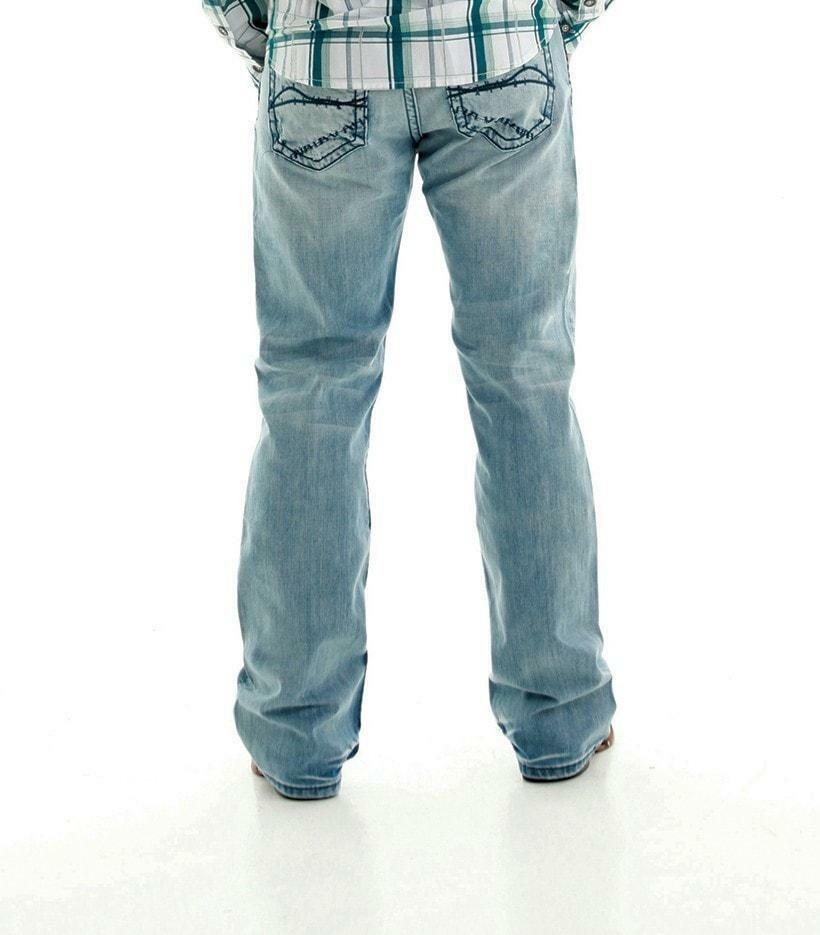 Men's B Tuff Trouble bluee Jeans Light Wash Denim Regular Fit Boot Cut NWT 40x34