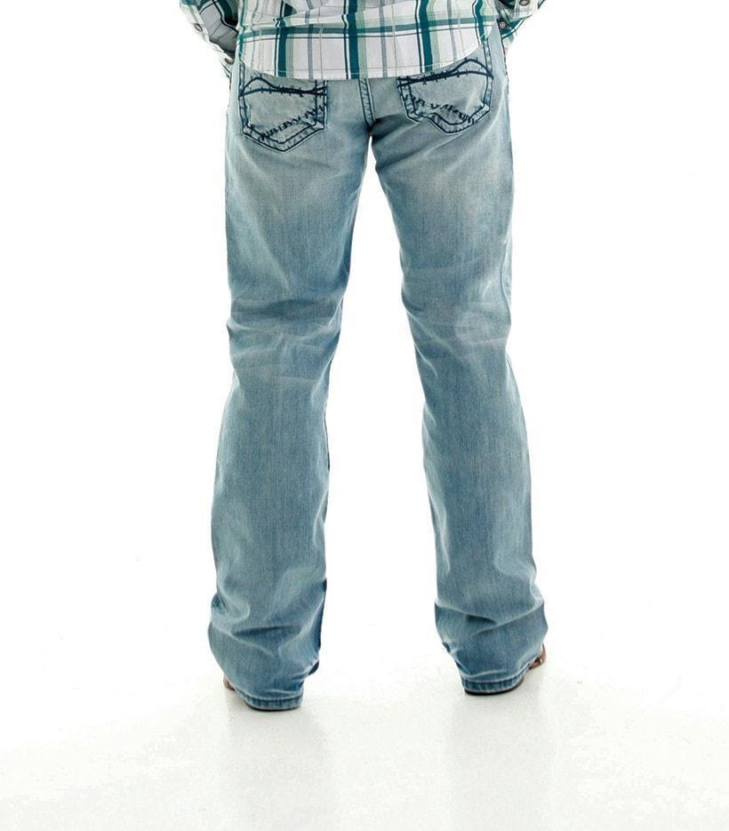 Men's B Tuff Trouble bluee Jeans Light Wash Denim Regular Fit Boot Cut NWT 34x34