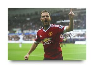 Juan-Mata-Signed-6x4-Photo-Manchester-United-Genuine-Autograph-Memorabilia-COA