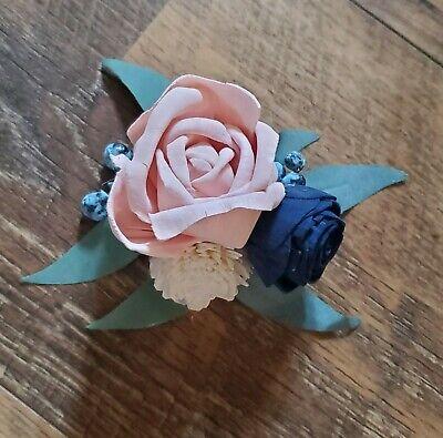 Mother Corsage Peach Mint Corsage Keepsake Corsage Wedding Corsage Wedding Flowers Mother/'s Corsage Sola Flower Corsage Prom Corsage