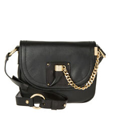 5b70520288d7 Michael Kors James Black Leather MD Saddle Crossbody Shoulder Bag Msr348