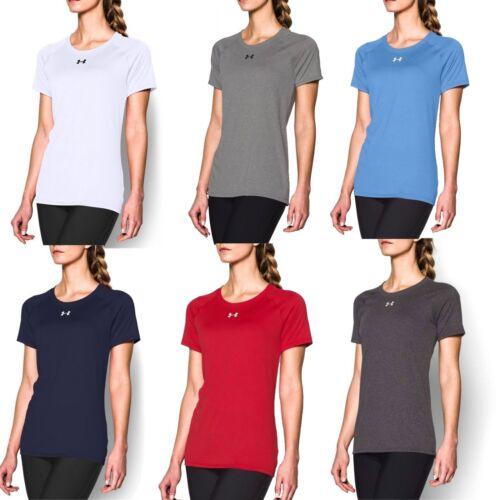 Under Armour Women/'s NEW Locker Crew Neck Short Sleeve T-Shirt Basic Sports Tee