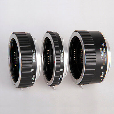 Metal Mount Auto Focus AF Macro Extension Tube/Ring For Canon EOS 550D 60D 5D 7D