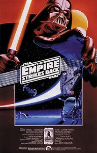 Star Wars Episode V The Empire Strikes Back 1980 Movie Poster Print 6 Ebay