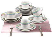Renberg RB-80131 fine Porcelain 30 Piece Dinner sets Plates Bowls Cups Saucers