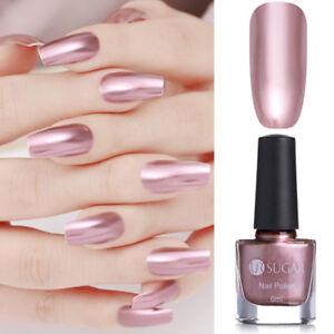 Image Is Loading 6ml Rose Gold Metallic Mirror Chrome Nail Polish