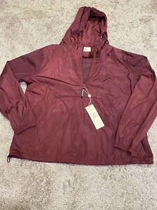 Grace-Karin-Women-s-Burgundy-Rain-Jacket-Size-XL