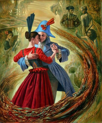 HD Canvas Print home decor wall art painting,Michael Cheval//16×20inch//stretched