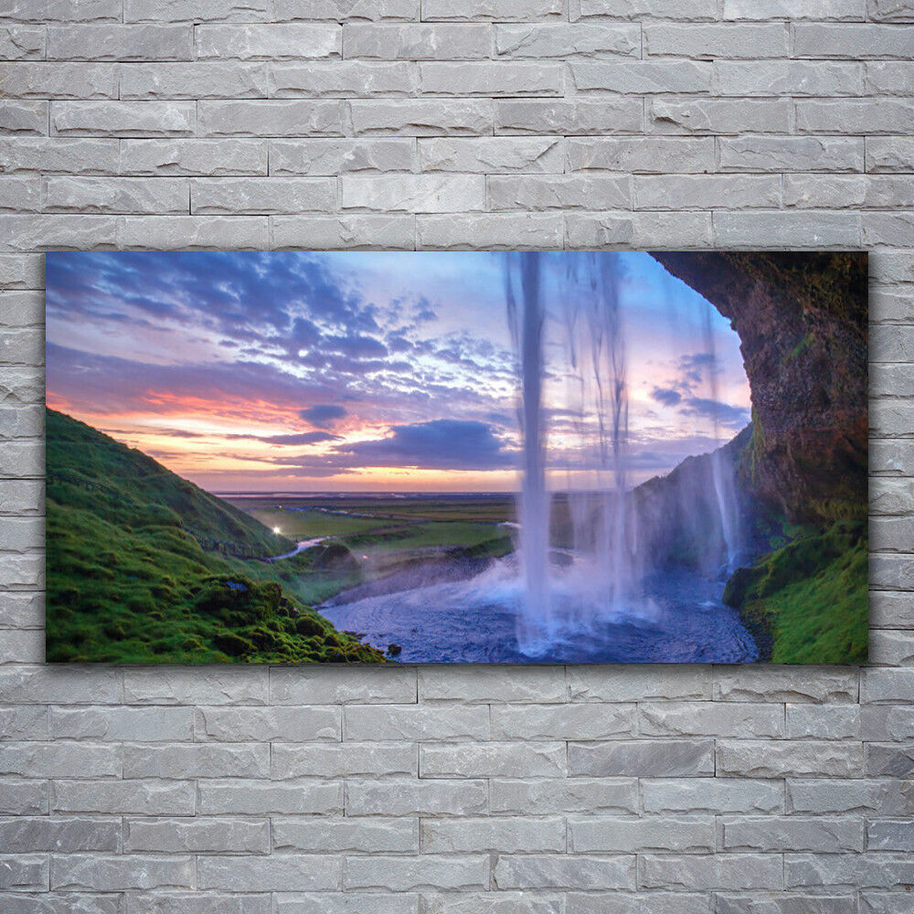 - Tela Immagini Immagine Parete Tela Stampa d'Arte 120x60 cascata PAESAGGIO