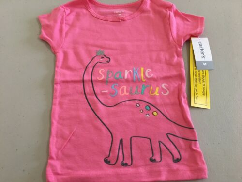 New Carter/'s Girls Dinosaur Pajama 2pc Set Snug fit Short Sleeve Long Pants