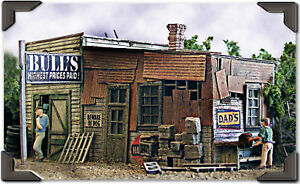 Bar Mills (HO-Scale) #452 BULL's SALVAGE - Laser Cut Wooden Kit