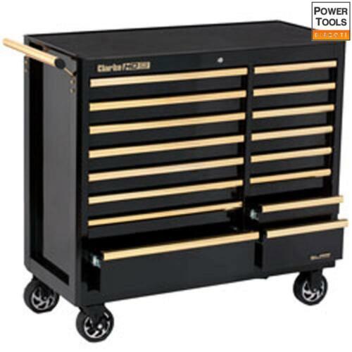 Black /& Gold Clarke CBB226BGB HD Plus 16 Drawer Mobile Tool Cabinet