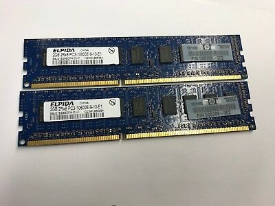 537755-001 4GB DDR3 PC3-10600E HP Compaq Unbuffered DIMM Memory RAM
