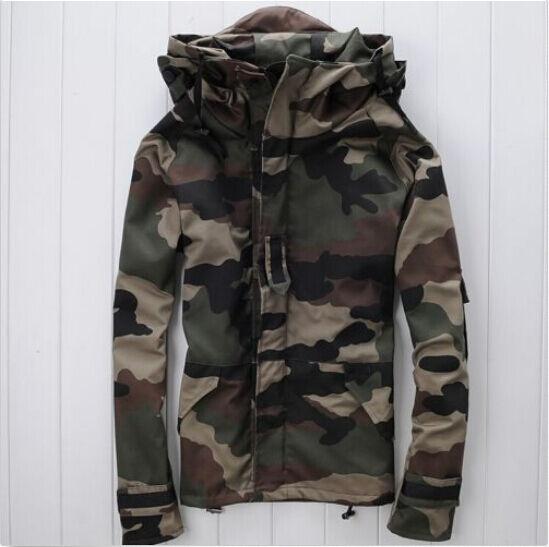 2016 Men & Women Coat Camouflage Waterproof Snowboard Wear Outdoor Hooded Jacket