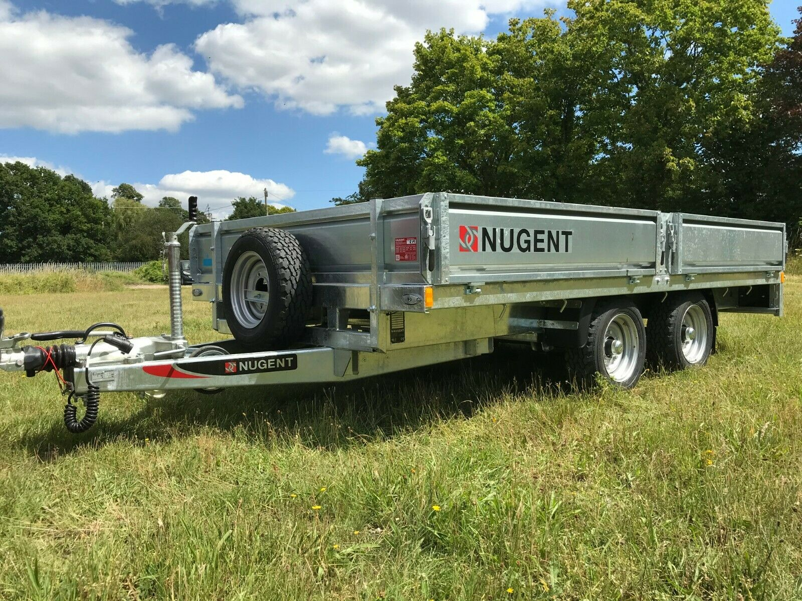 NUGENT F3720H 12'2 x 6'7 FLAT BED TRAILER - IN STOCK!!