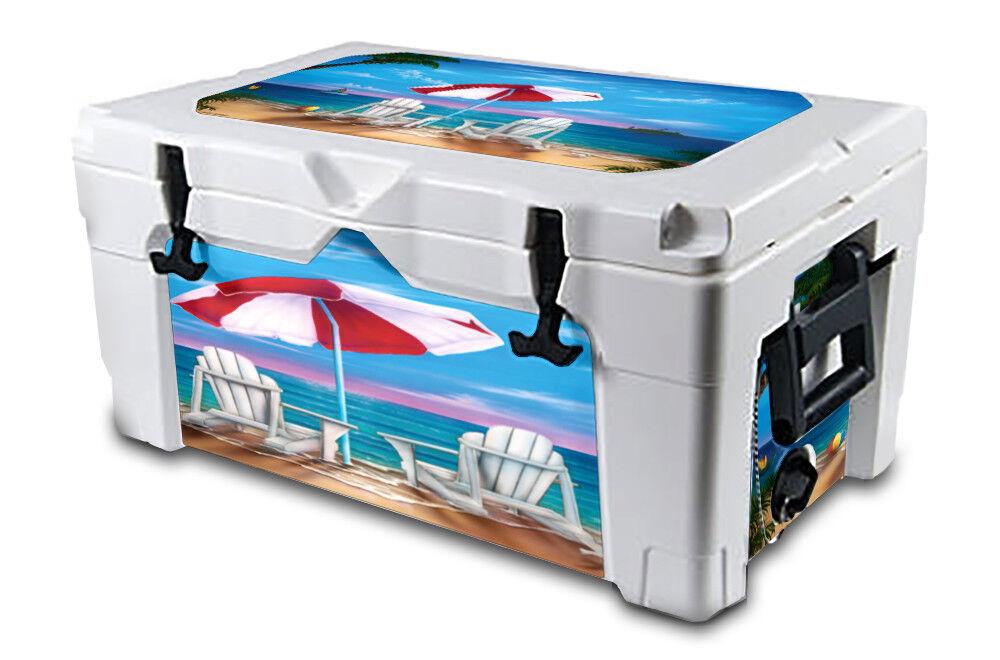 USATuff Decal Wrap L+I Kit Kit Kit fits IGLOO Sportsman 70qt Cooler Exotic Vacation 2711aa