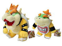 Set Of 2 - Bowser & Bowser Jr. - Sanei Super Mario All Star Collection Plush