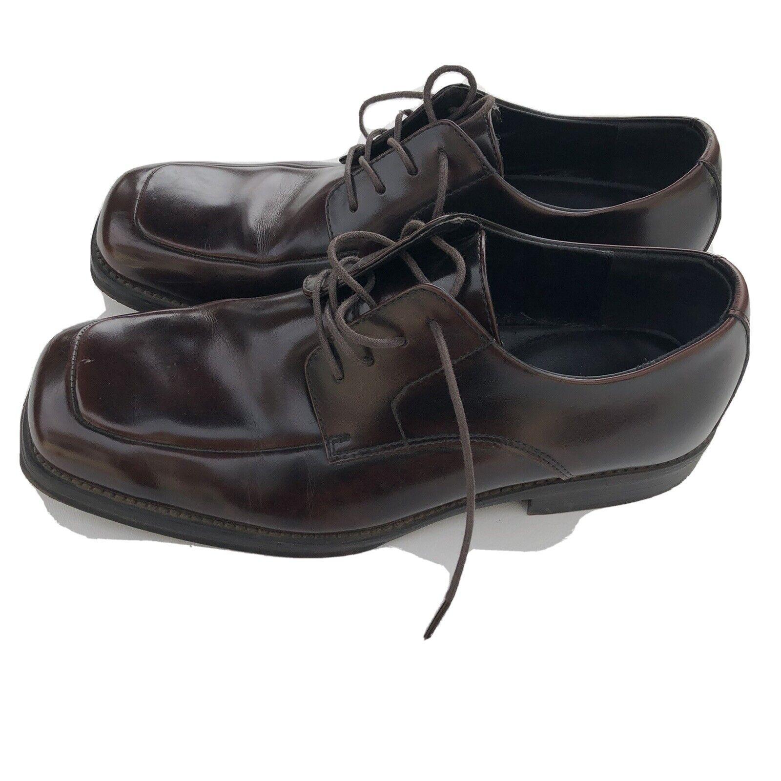 Kenneth Cole Reaction Size 11.5 Men's Brown Lace Up Dress Shoes