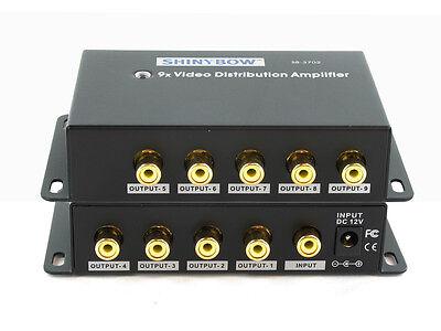 4-Way Composite RCA Video Splitter Distribution Amplifier SB-3701RCA 1:4 1x4