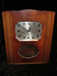 Vintage Girod France Art Deco Wall Clock Westminster Chimes Ch Jacobee Verdun Ebay