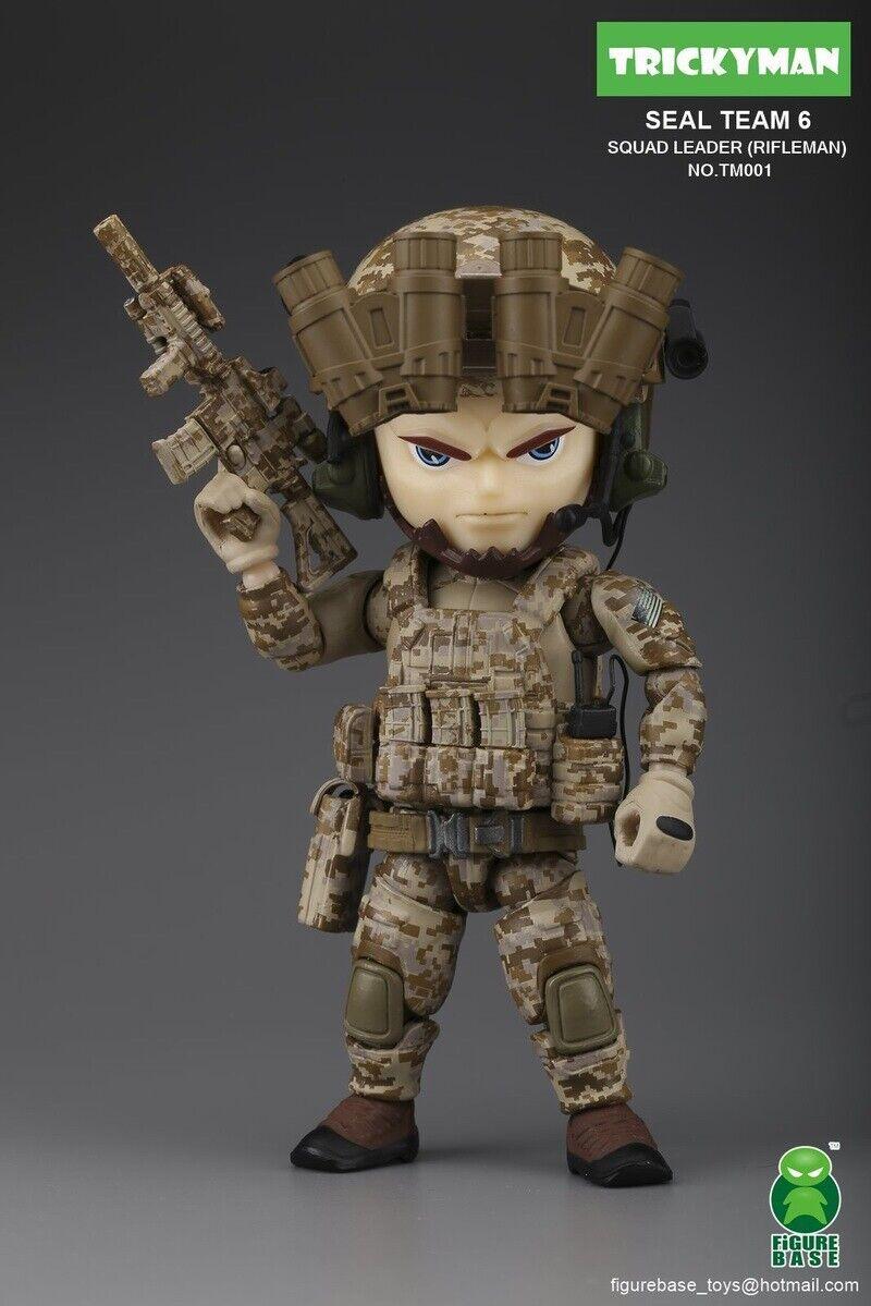 Figurabase TM001 trickyman Seal Team 6 escuadrón líder Rifleman 5  Figura De Acción
