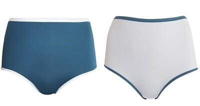 EX M/&S SIZE 12-18 TEAL FULL BRIEF KNICKERS PANTS PANTIES BRIEFS