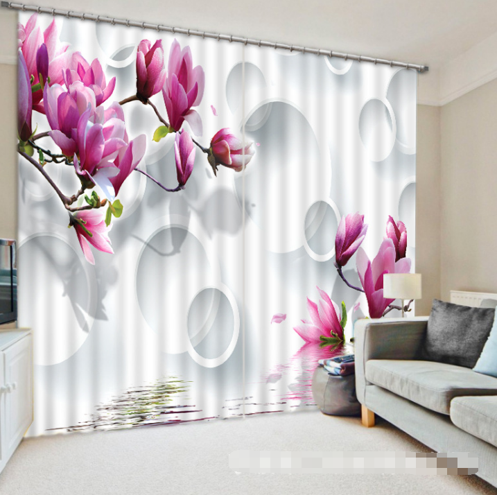 3D Flowers 151 Blockout Photo Curtain Printing Curtains Drapes Fabric Window CA