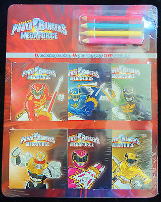 Power Rangers Megaforce 6 Mini Coloring Books 4 Pencils ...