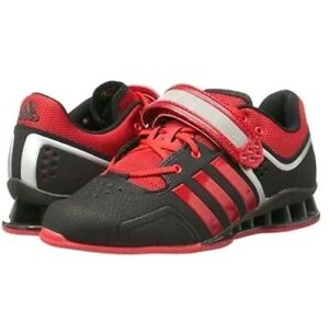 best loved 43de2 9271d Image is loading Adidas-Adipower-Weightlifting-Shoes-M21865-Size-15-Black-